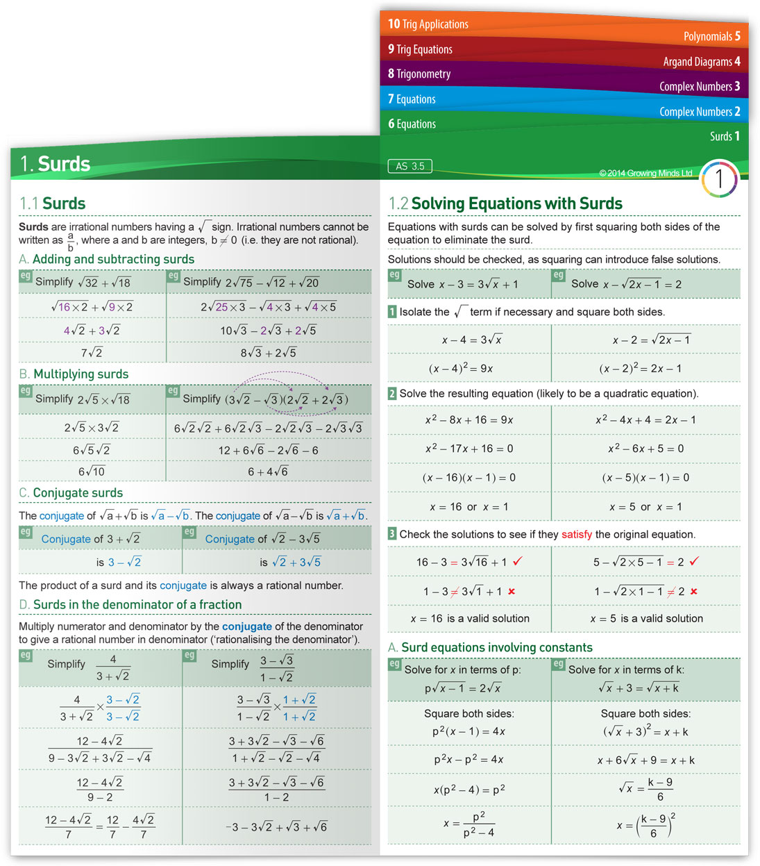ncea revision for mathematics and science subjects fold out notes